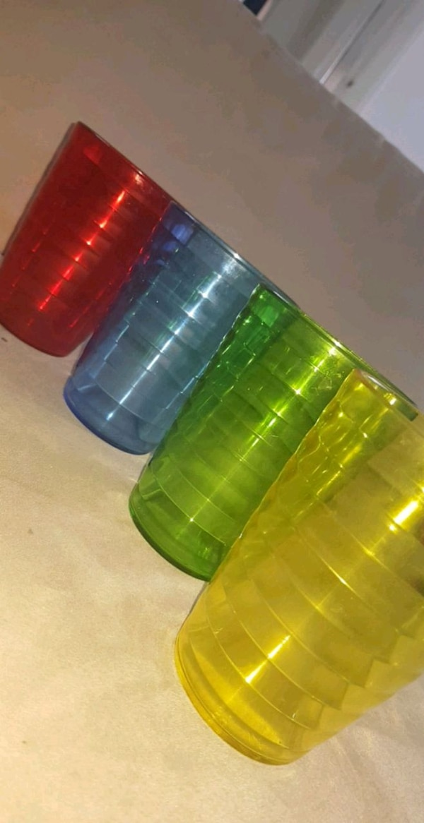 Coloured party cups