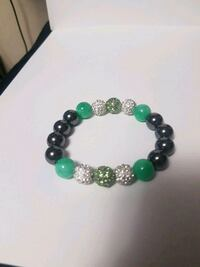 beaded green and black bracelet Toronto, M1P 4S4