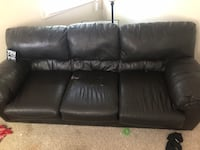 Black leather couch Lafayette, 47905