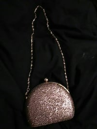 gray clasp purse with silver-colored link chain Fresno, 93703