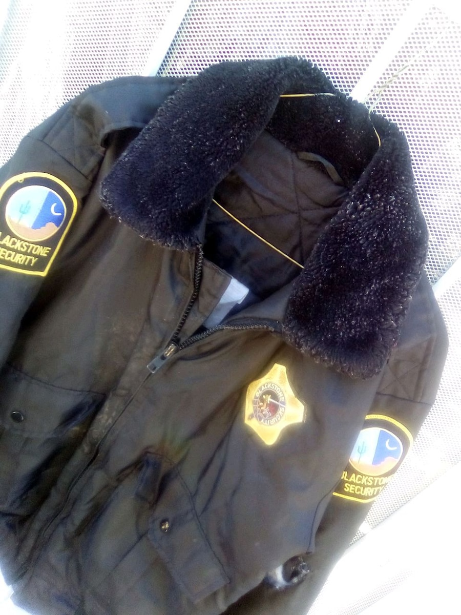 Photo Security guard jacket. cold and wet weatherproof.