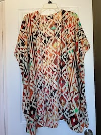 Open front loose kimono cardigan Size L