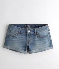 Advanced Stretch denim shorts featuring double roll hem, fading and right coin pocket Calgary, T3G 4E1