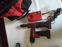 red and black Milwaukee cordless power drill Charlotte