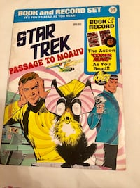 Star Trek Passage to Moauv 1975 Book and Record set Vintage Weehawken, 07086