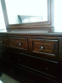 brown wooden dresser with mirror Rosedale