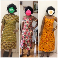 African fabric dress size S $40 each Mississauga, L5K 2R3