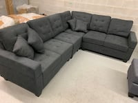 Brand new large charcoal fabric sectional sofa warehouse sale 多伦多, M1P 2Y4