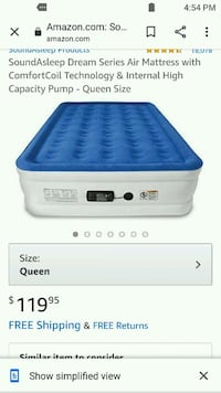 Queen size Air mattress bed with built in air pump new. Oklahoma City, 73107