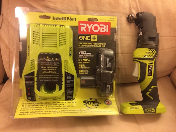 RYOBI P340 18v One+ JOBPLUS BASE w/ Multi-Tool Attachment and  Battery/Charger Upgrade Kit