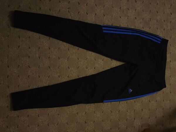 Used black and blue Adidas pants for sale in Queens - letgo ea92aad00c260