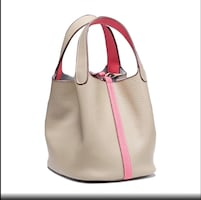 Brand new genuine leather beige and rose color - pick up Downtown