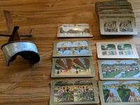 Vintage steroscope with 50+ viewing cards White Bear Lake, 55110