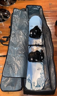 145 cm Morrow board with binding, Burton size 7.5 boots and board bag Vancouver