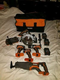 rigid set with 2 battery and charger