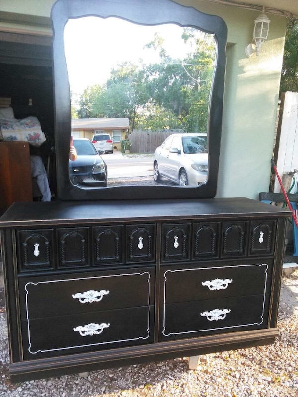 Used Black And White Shabby Chic Dresser For Sale In New York Letgo