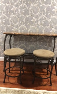 Bar stool table with two barstools