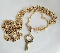 Juicy Couture long heart and key gold chain necklace Vancouver, V6E 1W1