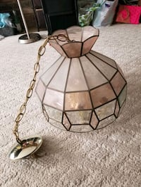Hanging glass light fixture