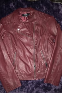 Jacket (Coffeeshop) Maroon pleather