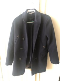Men navy blue pea coat Sugar Land
