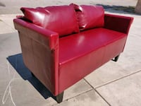 Red Leather Loveseat Couch West Covina, 91790