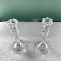 Two clear glass candle holders Odenton, 21113
