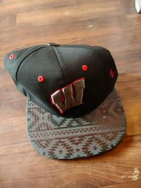 black and gray fitted cap Price, 84501