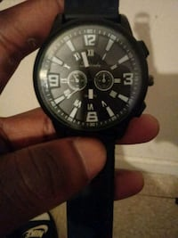 round black chronograph watch with black strap Manassas, 20111