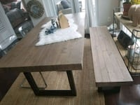 Dinning table with bench Mississauga, L5B 4C1