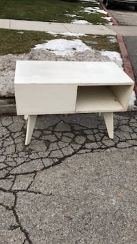 White wooden night table/ side table