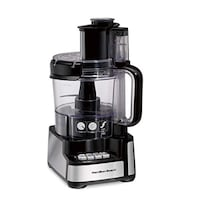 Hamilton Beach 70725A 12-Cup Stack & Snap Food Processor and Vegetable Chopper, Black Jersey City
