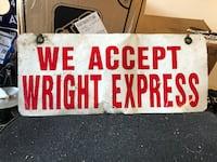 WRIGHT EXPRESS SIGN - Best Offer Chester, 07930