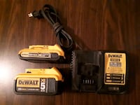 black and yellow DeWalt power tool battery charger Delta, V4C 5T9