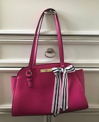 Women's pink leather tote bag null
