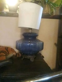 blue and black table lamp Springfield, 65802