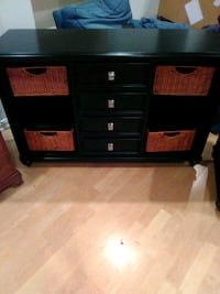 black wooden TV stand with cabinet Alexandria, 22333