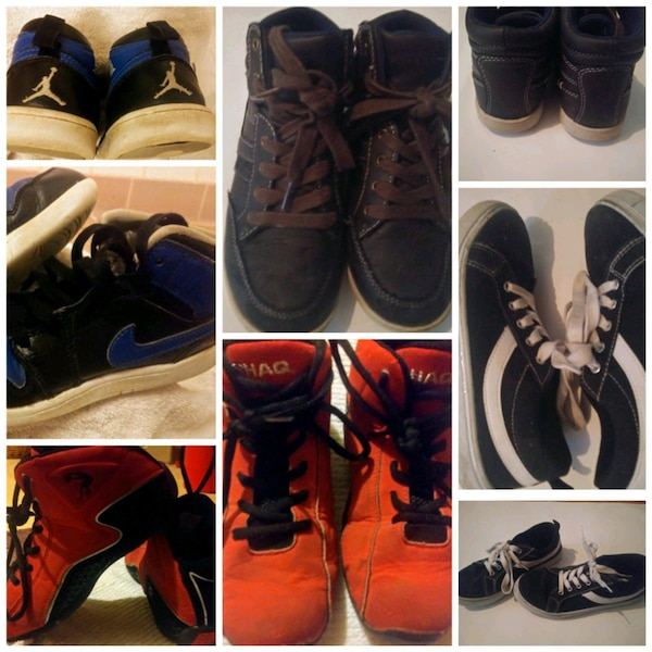 ea1428a03 Used 4 pairs of size 2 and 3 youth boys shoes for sale in New Albany - letgo