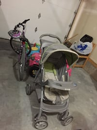 baby's gray and black stroller Airdrie, T4B 4G2