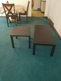 rectangular brown coffee table and end table  Scranton, 18510