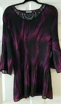 Purple/Black Tunic Blouse Ladies Large Las Vegas