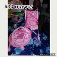 pink and blue floral print table decor Germantown, 20874