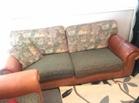 brown and black floral fabric 3-seat sofa Coquitlam, V3K
