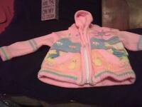 baby's pink and white zip-up hoodie Cedar Falls, 50613