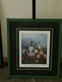 Verde framed painting of flowers Saint Charles, 63301