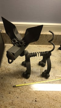 Used Cute Metal Dog Sculpture For Sale In Raleigh Letgo