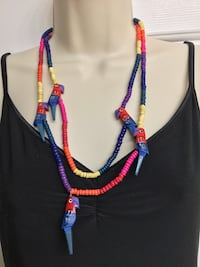 New Parrot Bead Necklace, Great for summer!