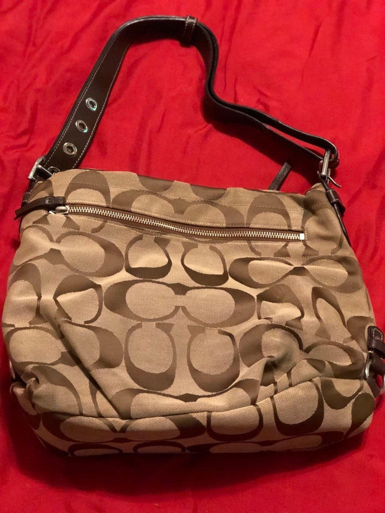 Photo Brown and black coach monogram hobo bag!!