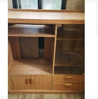 Oak wood tv stand and cupboard Toronto, M3J 1T7