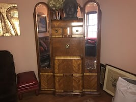 "Art Deco ""waterfall"" dresser/desk/closet"